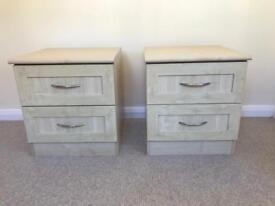 Side table and drawers x 2