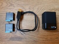 Gopro Hero 8 dual battery charger with 2 batteries - 4 Weeks old