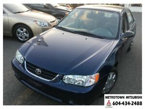 2002 Toyota Corolla CE; Local BC vehicle! LOW KMS!