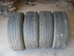 Four matching  Lt 275-65-18  tires $250.00
