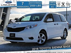 2016 Toyota Sienna BASE*7 PLACES*CAMERA*CRUISE*A/C**