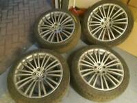 Dark silver Audi vw alloy wheels 18 inch pcd 5x100