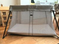 BabyBjorn Travel Cot | Silver | £120