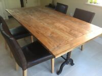 Dining room set with 4 chairs and desk table