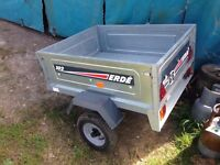 ERDE 102 TRAILER. Used but good conditions a couple of small dents but doesn't affect use.