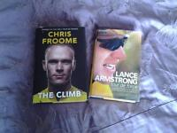 2 hardback books on Cycling icons : CHRIS FROOME, and LANCE ARMSTRONG.