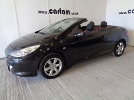 2008 Peugeot 307 1.6 Allure Coupe Cabriolet 71k miles FSH Full Leather Climate CD HPi Clear £2495