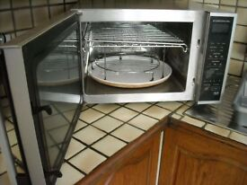 Sharp jet convection and grill microwave oven reduced to clear