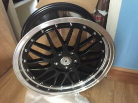 "X4 18"" BBS LM ALLOT WHEELS NEW"