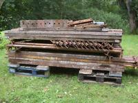 Kwikstage Scaffold, 30 ft x 16 ft, four bays, steel battens