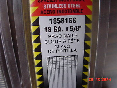 1000 Stainless Steel  58 Inch 18ga Brad Nails