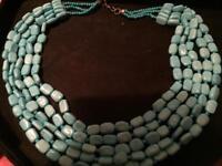 Ladies turquoise Baltic necklace