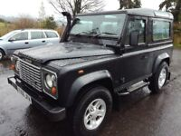 landrover defender 90 td5 2495 cc diesel genuine county station wagon 6 seats tax 315 year