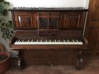Free to a good home: Crane and Sons upright overstrung piano needs tuning and some restoration