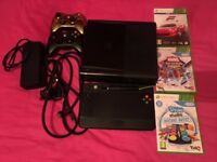 Xbox 360 250 GB (Black) with uDraw tablet, 2 controllers and 3 games