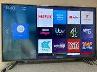 """55"""" HISENSE 4K UHD HDR LED SMART TV NETFLIX 4K YOUTUBE USB WiFi Freeview HD CAN DELIVER"""
