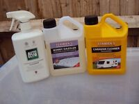 Selection of caravan/motorhome cleaning products