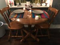 Solid oak wood Table with 2 chairs from John Lewis