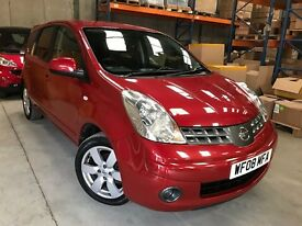 2008/08 NISSAN NOTE JUST 1 PREVIOUS OWNER AND MOT UNTIL APRIL 2018
