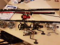fishing rods / reels