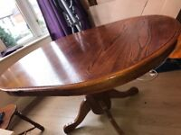Wooden Extendable Dining Table + 4 Chairs