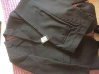 Brand New Slaters Men's Black Wool Suit Unworn