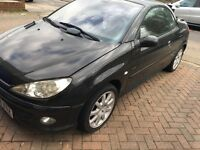 QUICK SALE !! - Peugeot Black 206cc 2004