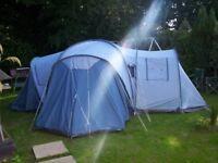 Vango Colorado 600DLX 6 person family tent. Very spacious 3 bedroom pods