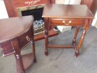 2 x stunning mahogany tables free delivery solid wood hand made