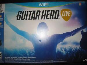 Guitar Hero Live - Nintendo Wii U. Guitar Wireless Controller with Game. GH TV Music Video Network.