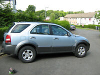 KIA Sorento 4x4 SUV Very comfy 2,5 Diesel manual full leather cruise cont etc swap for car or bike.