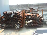 Used Radiant Heater Pipe and Shields, Heads