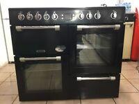 Leisure range electric cooker CK100C210K 100cm black double oven 3 months warranty free local deliv!