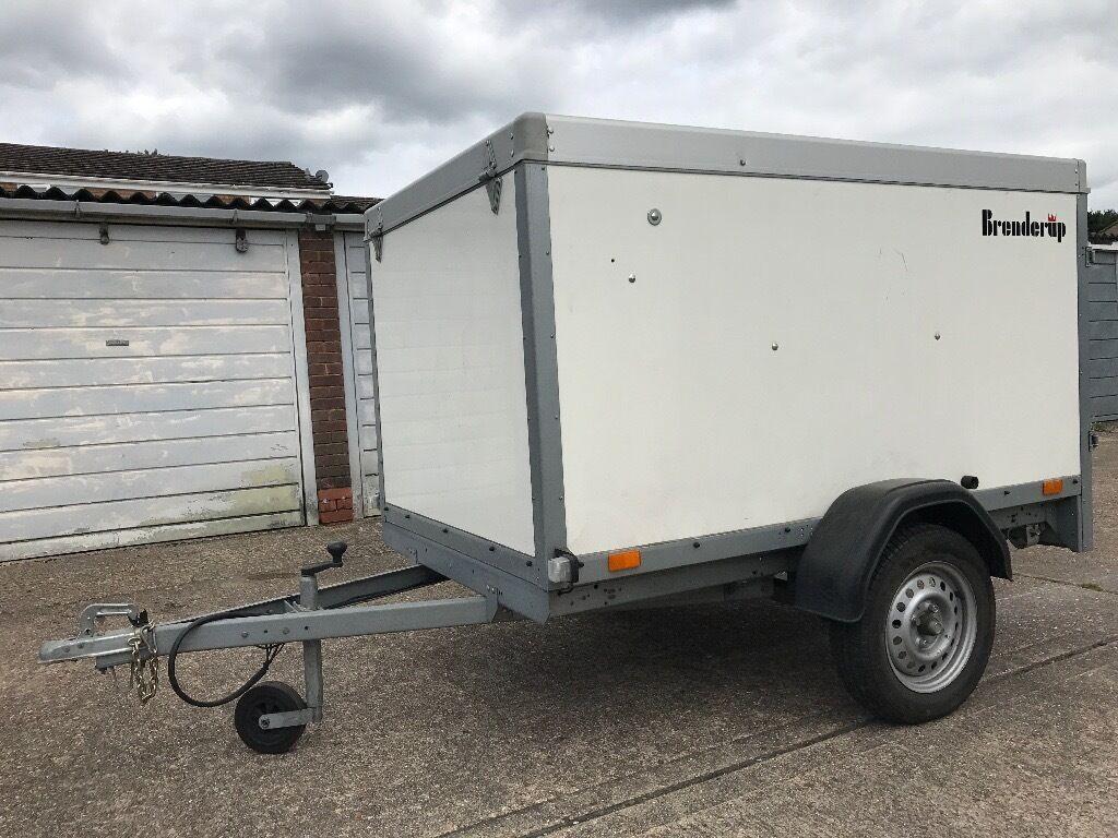 trailer, elevating roof, single axle, 750 Kg Brenderup