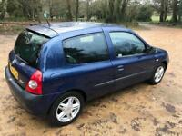 2004 RENAULT CLIO 1.4 DYNAMIQUE. MOT, LOW MILLAGE, DRIVES WELL.