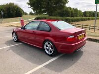 bmw 325ci m sport 05 plate imola red up for swapz