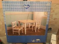 Delta Children's table and chairs set - Brand New!!