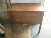 VINTAGE ORNATE INLAID CHEST OF 3 DRAWERS. VERSATILE LOCATION USAGE. VIEWING/DELIVERY AVAILABLE
