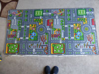 Large Childrens City Road Rug/Playmat 186cm x 100cm (hession backed) Immaculate