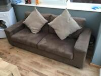 Suede style sofa