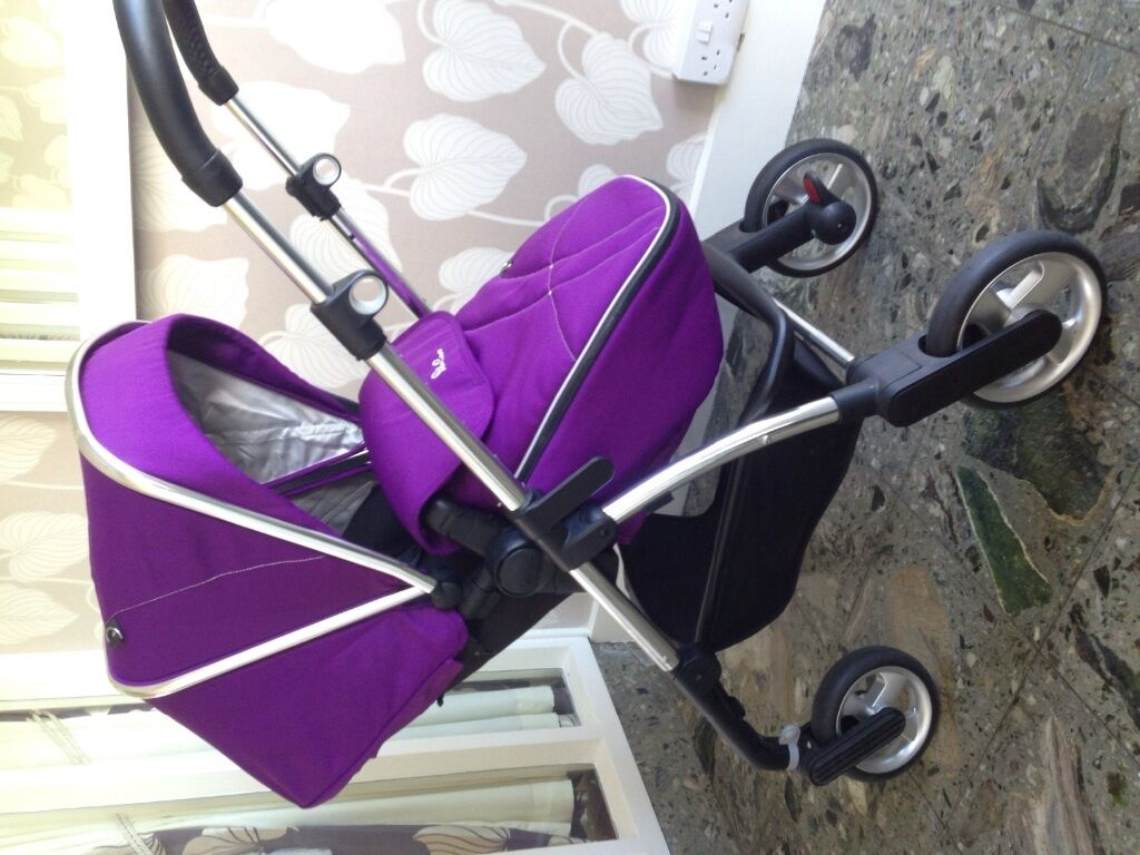 Silver Cross Pioneer Pram Stroller Travel System In Damson