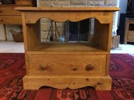 Small wooden tv stand