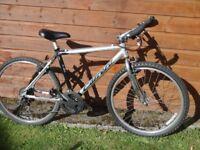 Carrera absolute bike, 26 inch wheels, 21 gears, 18 inch lightweight aluminium frame