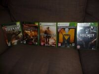 FIVE XBOX 360 GAMES