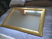 Gold Edged Wall Mirror