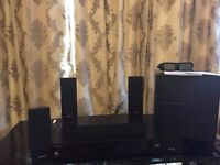 Sony Blue ray player with woofer and speakers