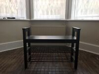 Shoe rack with bench for sale