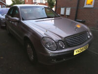 Mercedes E270 Automatic 2004 Spares or Repairs, 10months MOT, 2 previus owner, 118k miles