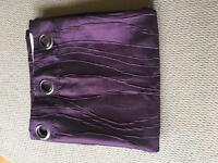 2 pairs Purple eyelet curtains