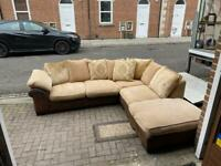 DFS corner sofa with footstool Delivery available
